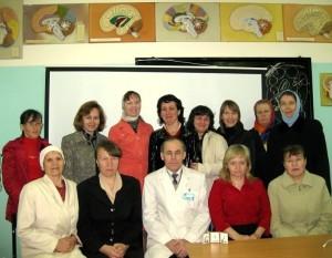 Школа сестер милосердия, группа выпуск 2011г, с Шорниковым Александром Ивановичем