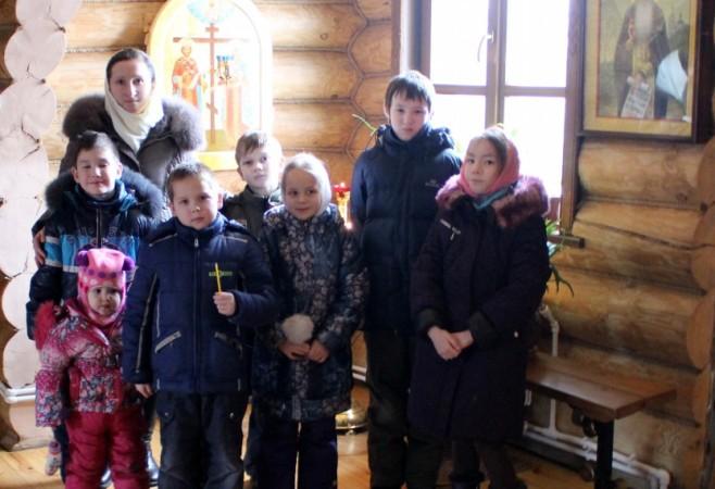Очередное занятие в Детской воскресной школе