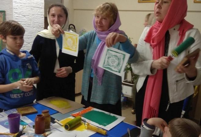 Cостоялось очередное занятие в Детской воскресной школе храма