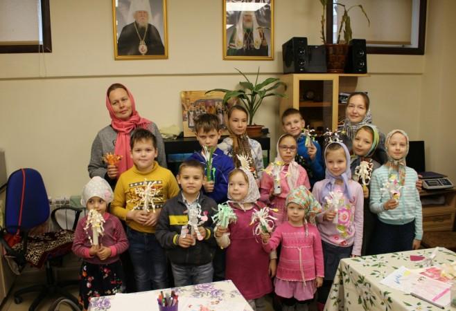 Состоялось очередное занятие в Детской воскресной школе храма