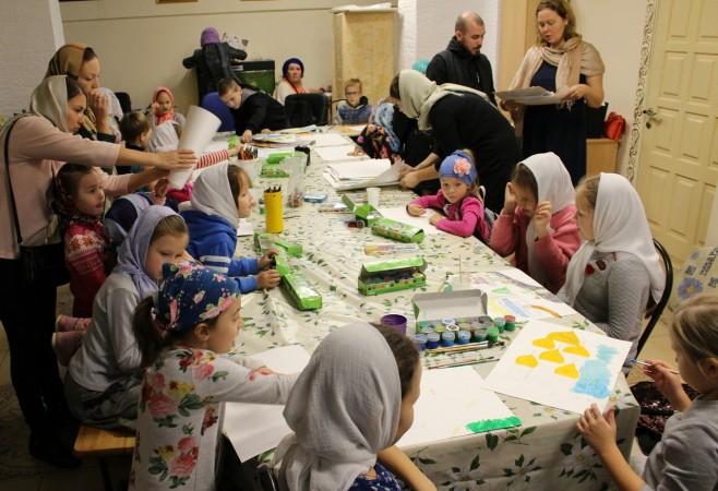 Состоялось занятие в Детской воскресной школе храма