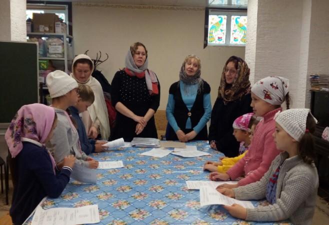 Возобновились занятия для воспитанников Детской воскресной школы при храме