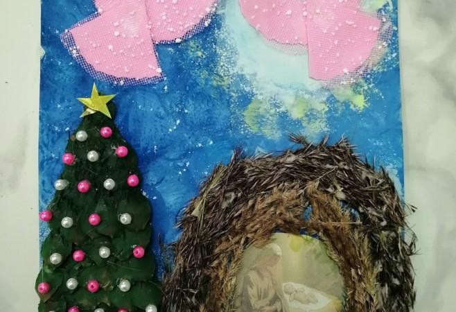 Воспитанница Воскресной школы храма стала победителем конкурса рождественских открыток